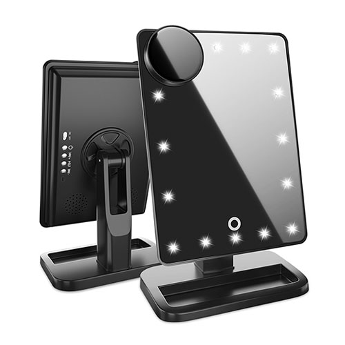 Led Hollywood Makeup Mirror Black Small Beauty
