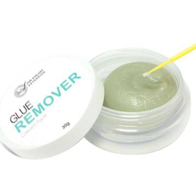 cream eyelash glue remover